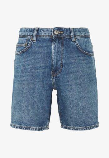Denim-Short aus 100% Baumwolle