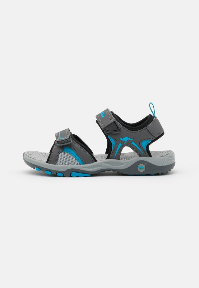 K-MONT - Outdoorsandalen - steel grey/brilliant blue