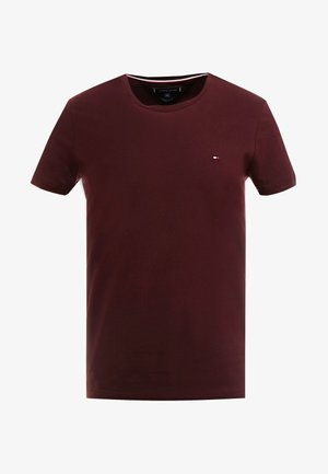 STRETCH SLIM FIT TEE - T-shirt - bas - red