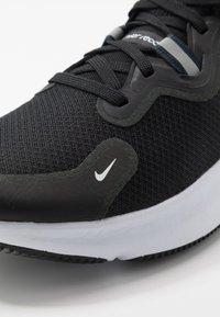 Nike Performance - REACT MILER - Neutral running shoes - black/white/dark grey/anthracite - 5