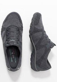 Skechers Wide Fit - BREATHE-EASY - Zapatillas - charcoal/gray - 3