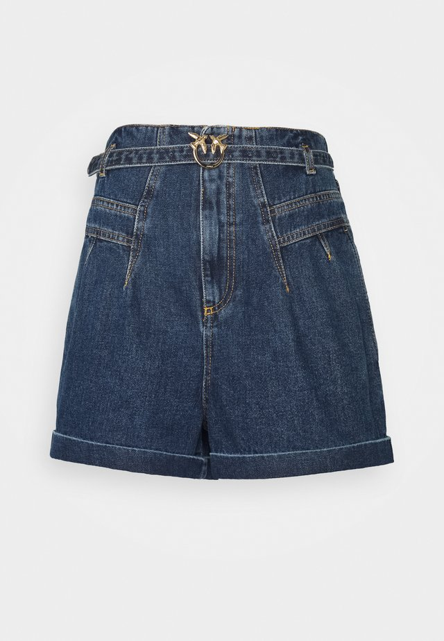 NOVA - Shorts - dark-blue denim