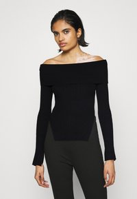 Gina Tricot - OFELIA OFF SHOULDER - Jumper - black - 0