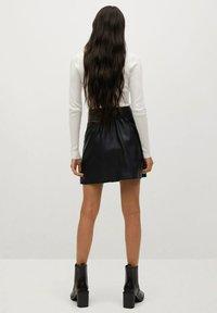 Mango - Leather skirt - černá - 2