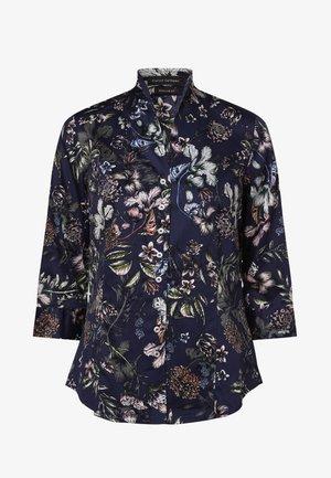 Button-down blouse - indigo mehrfarbig