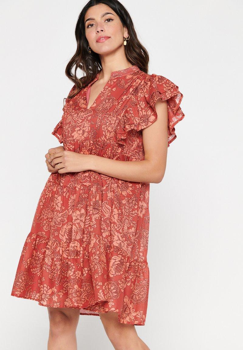 LolaLiza - TATIANA  - Korte jurk - red