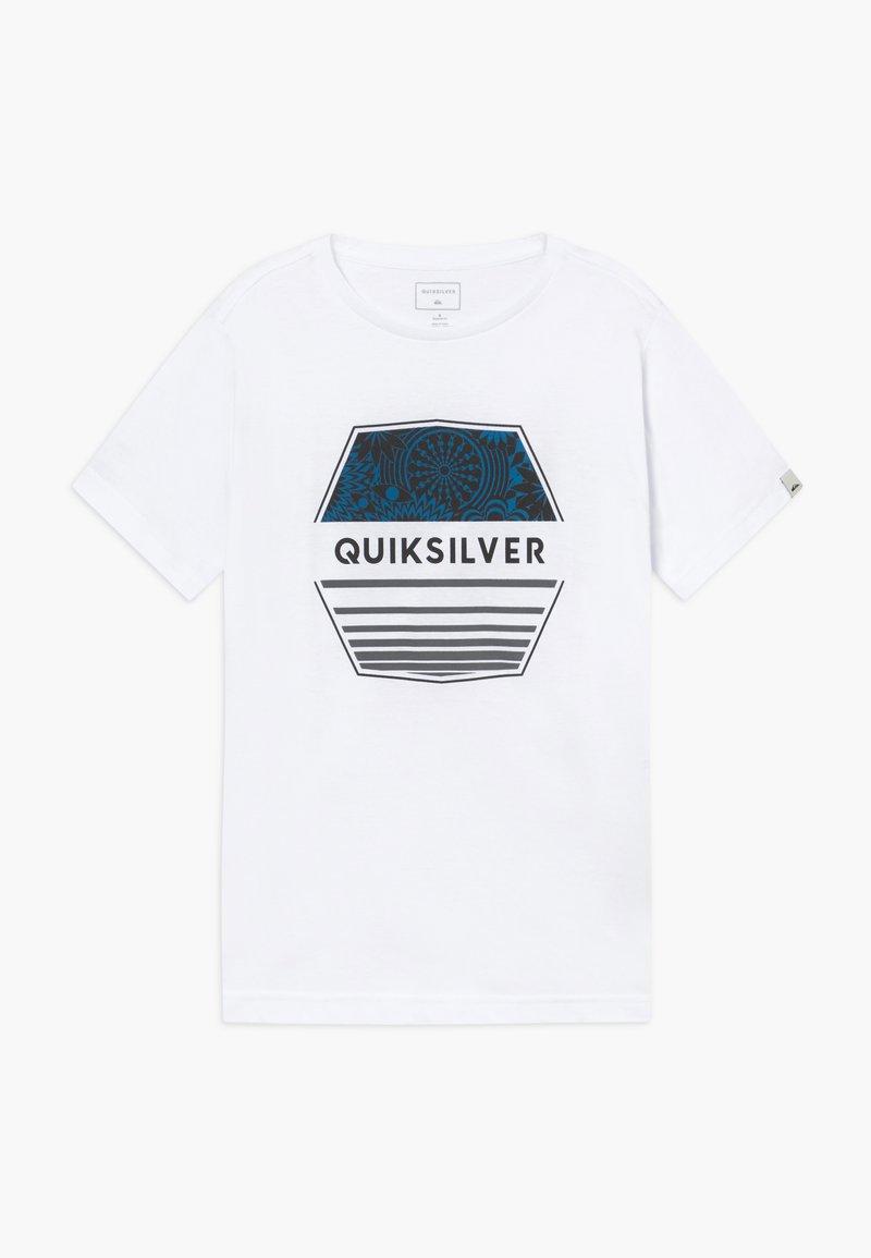 Quiksilver - DRIFT AWAY - Printtipaita - white