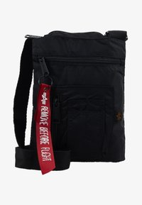 Alpha Industries - CREW MESSENGER BAG - Across body bag - black - 6