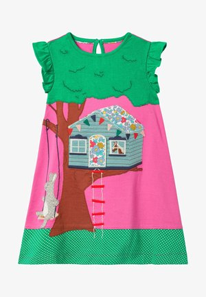 MIT AUFKLAPPMOTIV - Jersey dress - rosarot, baumhaus