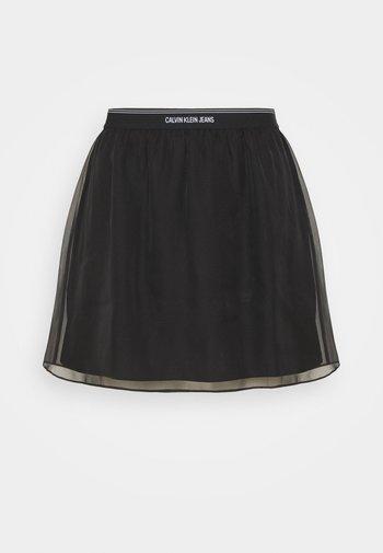 LOGO WAISTBAND SKIRT - A-snit nederdel/ A-formede nederdele - black