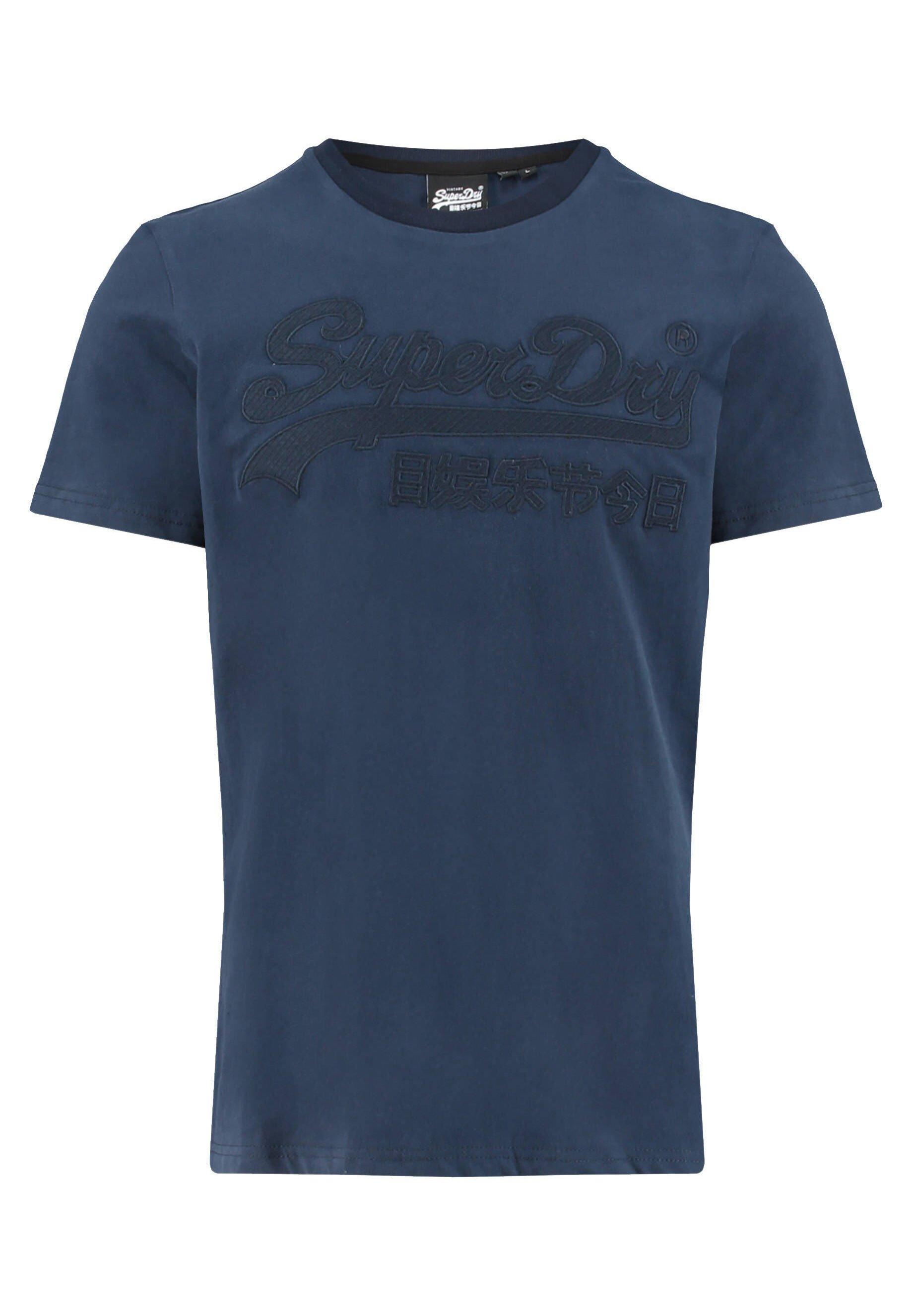 Superdry T-shirt print - marine (52)  Heren shirts XoPA4