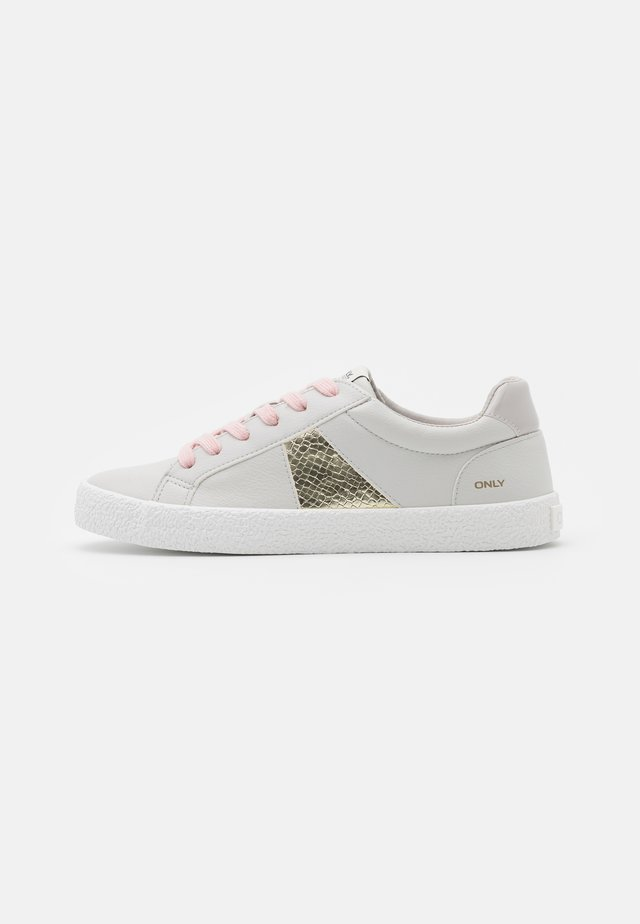 ONLSUNNY SIDE STRIPE - Sneakers laag - white/light grey