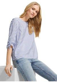 comma casual identity - Blouse - powder blue woven stripes - 0