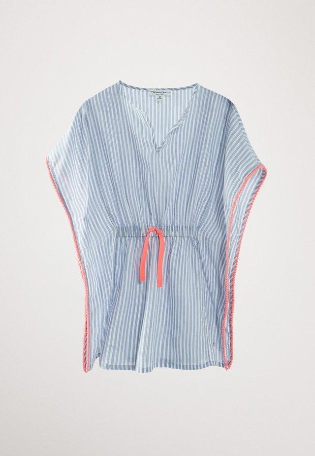 GESTREIFTER BAUMWOLL-KAFTAN  - T-shirt con stampa - blue