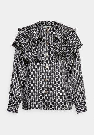 Button-down blouse - noir/blanc