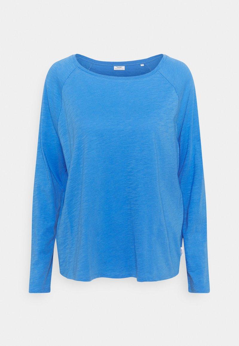 Marc O'Polo DENIM - LONG SLEEVE RAGLAN SLEEVE RELAXED FIT - Long sleeved top - intense blue