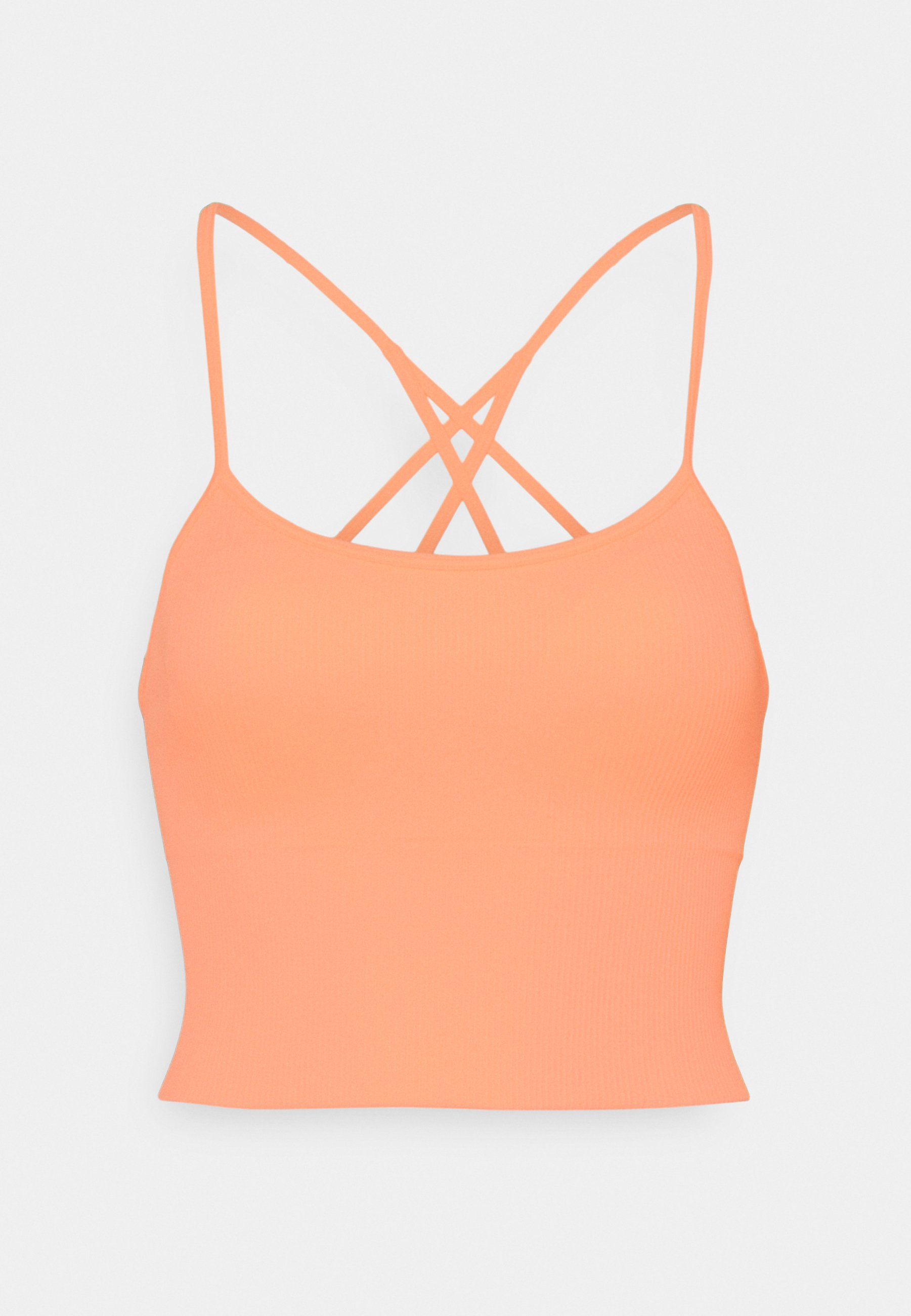 Femme SEAMLESS STRAPPY CROP REMOVEABLE CUPS - Débardeur