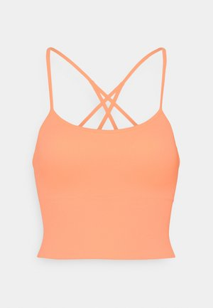 SEAMLESS STRAPPY CROP REMOVEABLE CUPS - Top - mimosa