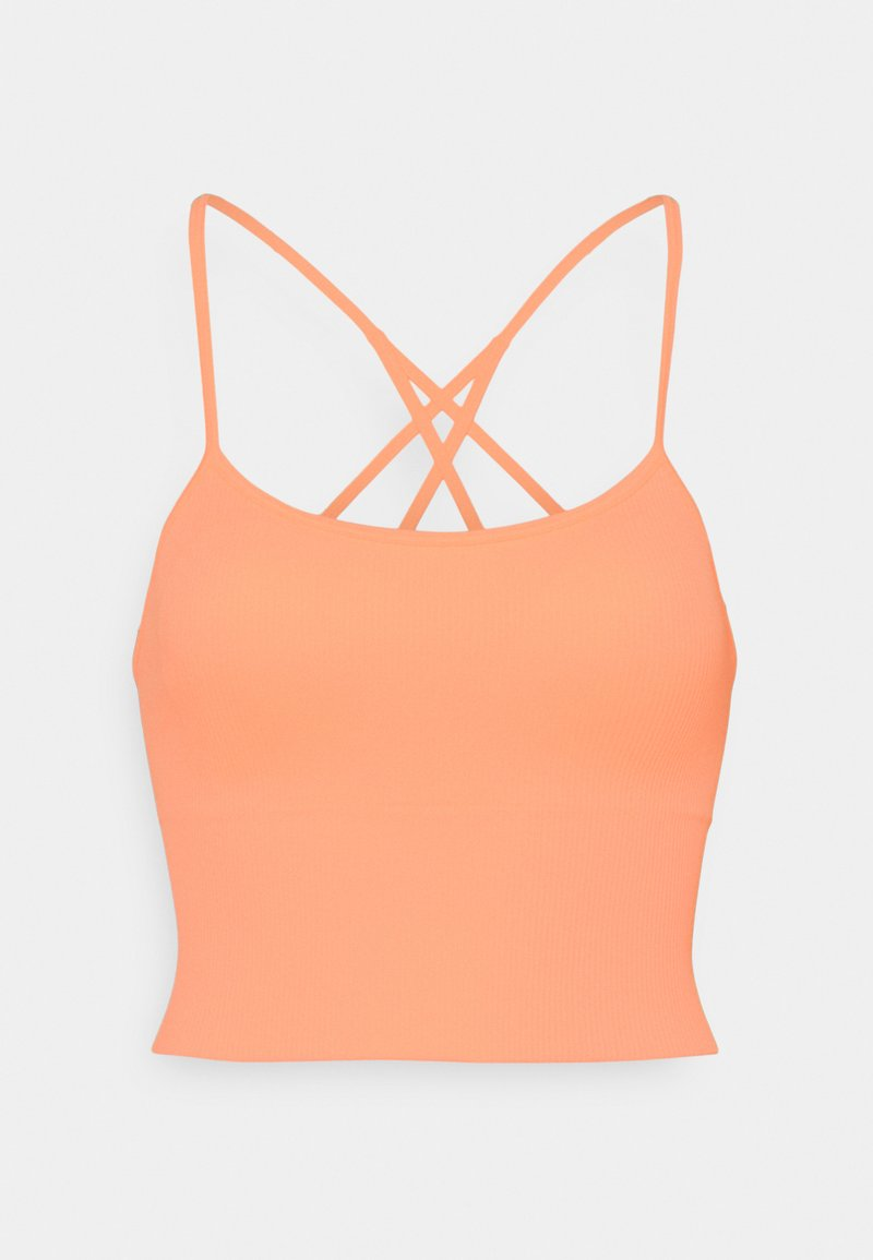 DKNY - SEAMLESS STRAPPY CROP REMOVEABLE CUPS - Top - mimosa