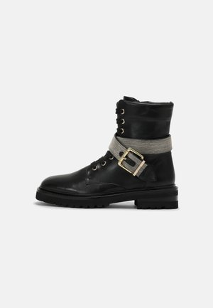 33 CHAIN ROAD - Lace-up ankle boots - black