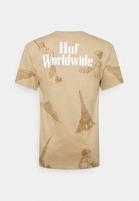 HUF - LANDMARKS TEE - Print T-shirt - unbleached - 1
