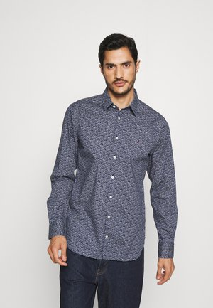FLEX FLORAL PRINT SLIM - Shirt - navy/white