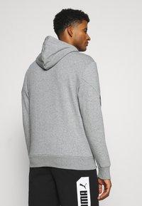 Puma - REBEL HOODIE  - Zip-up sweatshirt - medium gray heather - 2