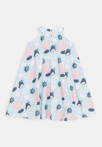 Walkiddy - DRESS FLARED SHELL PEARLS - Day dress - light blue/pink - 1