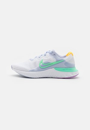 RENEW RUN 2 - Neutral running shoes - white/green glow/ghost/summit white/violet shock/laser orange