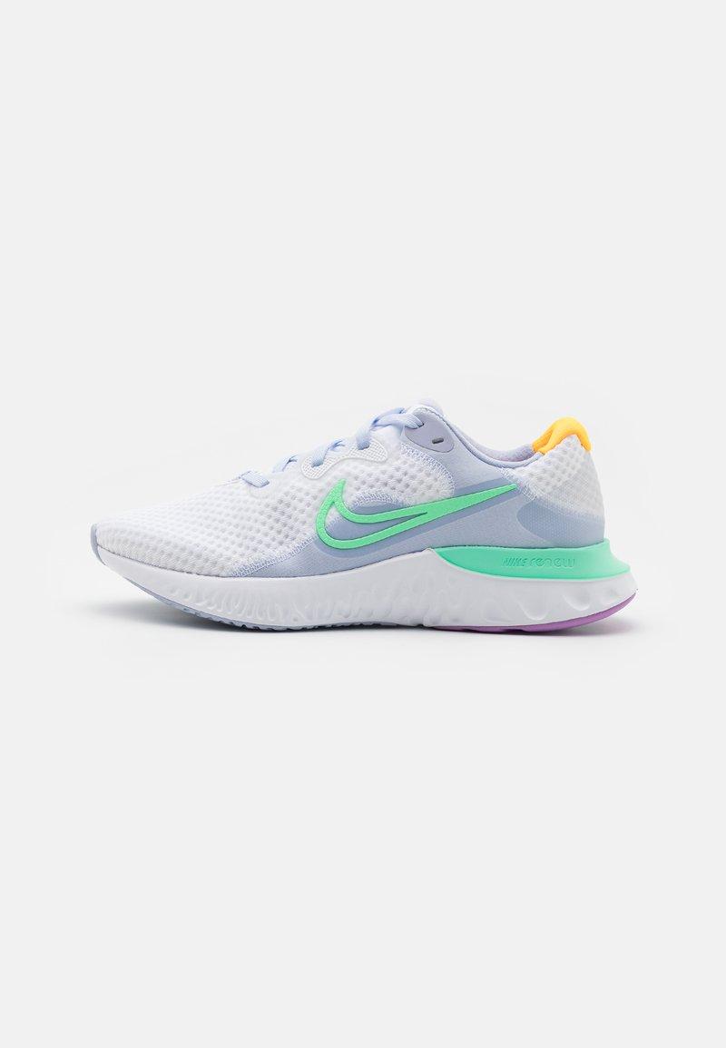 Nike Performance - RENEW RUN  - Zapatillas de running neutras - white/green glow/ghost/summit white/violet shock/laser orange