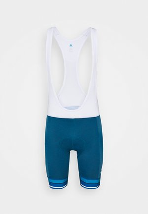 SHORT SUSPENDERS ZEROWEIGHT CERAMICOOL PRO - Tights - mykonos blue melange/white