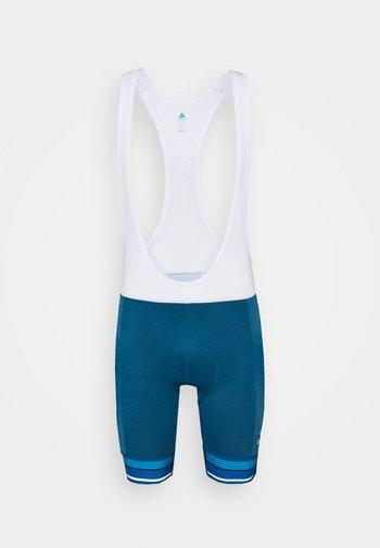 SHORT SUSPENDERS ZEROWEIGHT CERAMICOOL PRO - Collants - mykonos blue melange/white