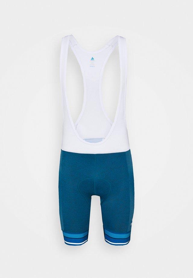 SHORT SUSPENDERS ZEROWEIGHT CERAMICOOL PRO - Tights - mykonos blue melange/white