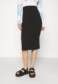Even&Odd - 2 PACK - Falda de tubo - black/pink - 1