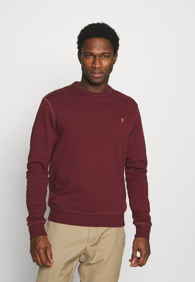 TIM CREW - Sweatshirt - farah red marl