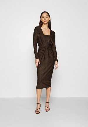 YASYEN V NECK MIDI DRESS - Cocktail dress / Party dress - black