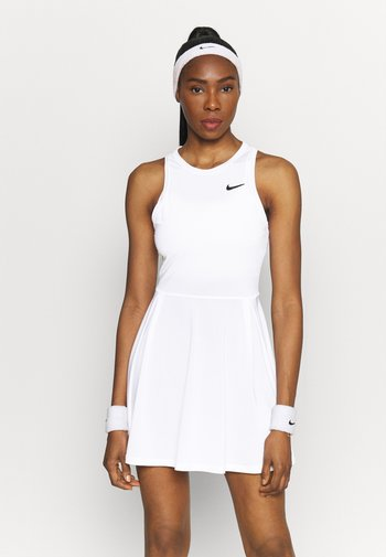 DRESS - Sports dress - white/black