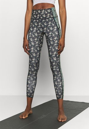 PRINTED YOURE A PEACH - Tights - black