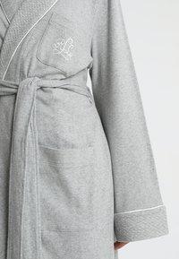 Lauren Ralph Lauren - ESSENTIALS COLLAR ROBE - Badjas - heather grey - 5
