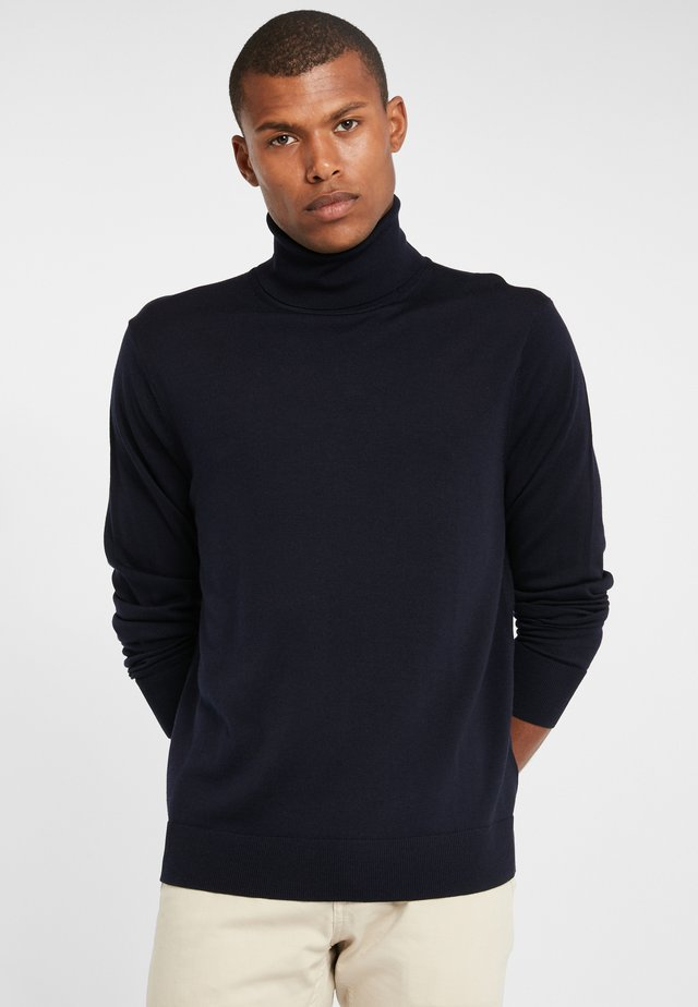 EASY CARE MERINO SWEATER TURTLE NECK NAVY - Jumper - navy