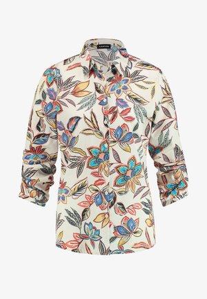 MIT FLORALEM MUSTER - Button-down blouse - linen gemustert