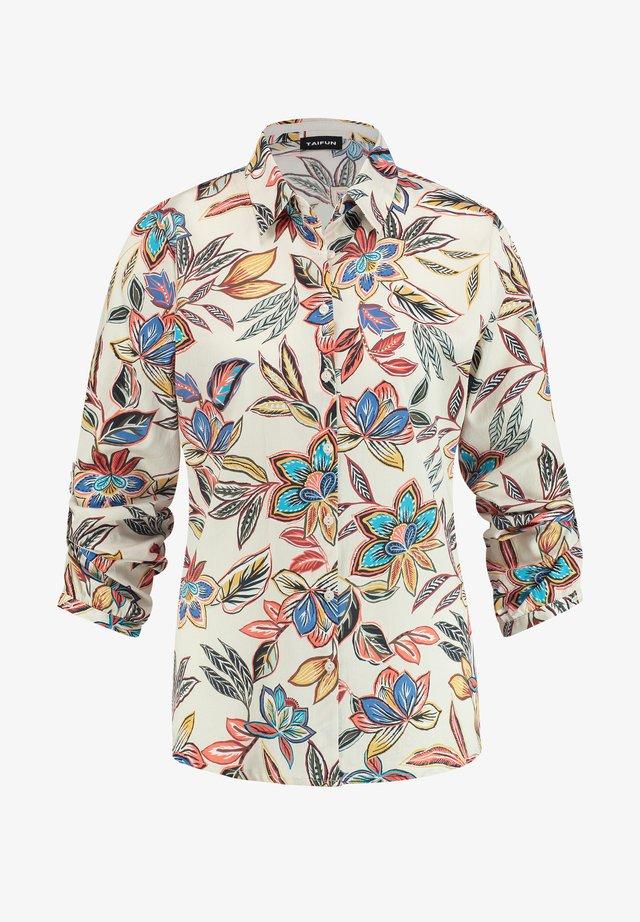 MIT FLORALEM MUSTER - Overhemdblouse - linen gemustert