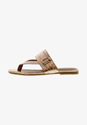 MADISON - T-bar sandals - roségold
