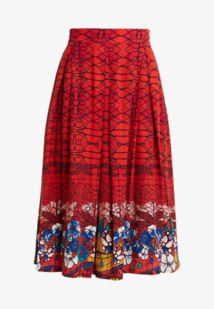 PRINTED SKIRT - A-line skirt - red