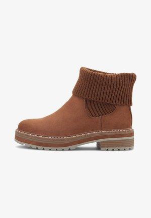 Platform ankle boots - mittelbraun