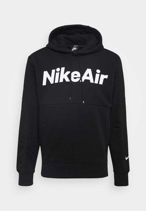 AIR HOODIE - Bluza z kapturem - black/white