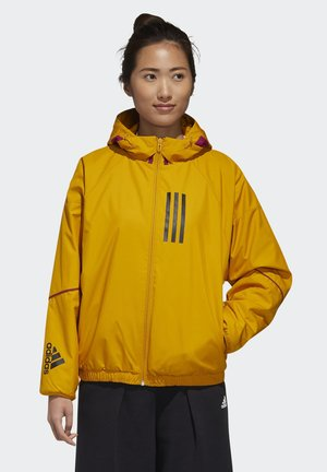ADIDAS W.N.D. WARM JACKET - Outdoor jacket - gold