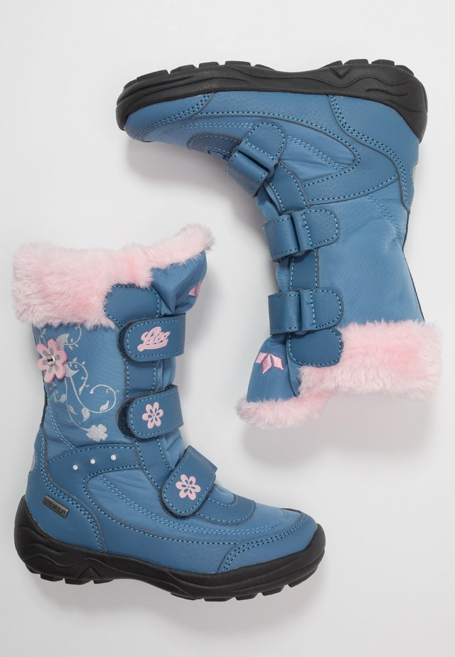 MARY - Winter boots - blau/rosa