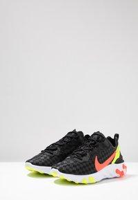 Nike Sportswear - REACT ELEMENT 55 - Trainers - black/flash crimson/hyper crimson/volt/white - 3