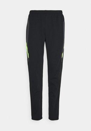 DRY ACADEMY PANT  - Pantalones deportivos - black/dark smoke grey/volt/light smoke grey